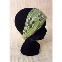Bandeau cheveux floralia vert
