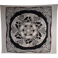 Tenture maxi étoile celtic noir et blanc
