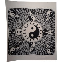 Tenture maxi full yin yang délire blanc et noir