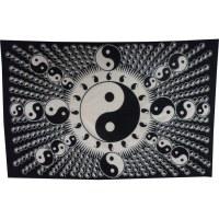 Tenture full yin yang blanc et noir
