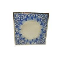 Miroir carré mosaïque  indigo