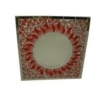 Miroir carré mosaïque radis