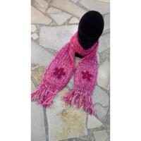 Echarpe à poches rose