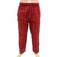Pantalon Gandaki rayé rouge