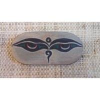 Galet mantra de la compassion et Bouddha eyes
