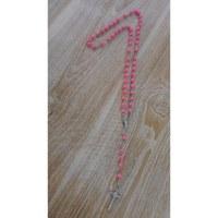 Chapelet en perles de bois rose