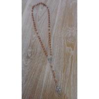 Chapelet en perles de bois marron