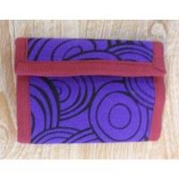 Portefeuille cercles violet