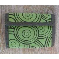 Portefeuille cercles vert