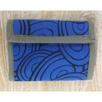 Portefeuille cercles bleu marine