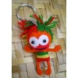 Porte clés rasta girl orange