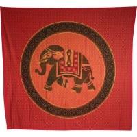 Maxi batik éléphant pointillé rouge