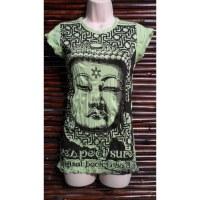 Tee shirt lady vert Bouddha Angkor