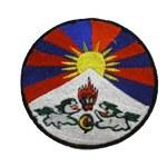 Écusson rond drapeau tibétain