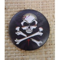 Badge crâne tatoué 45