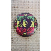 Badge rasta roots 45 Bob Marley