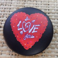 Badge coeur  I love you