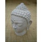 Tête de Bouddha blanche