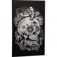 Tenture noir/blanc skull joke