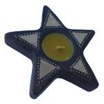 Bougeoir terre cuite étoile