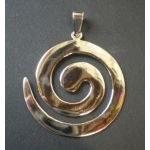 Pendentif arg grande spirale
