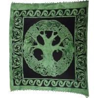 Tenture maxi arbre de vie celte vert