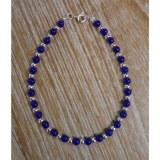 Bracelet  perline bleu