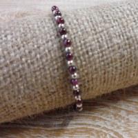 Bracelet  perline grenat