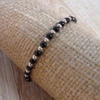 Bracelet perline noir