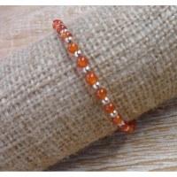 Bracelet perline cornaline