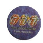 Badge rolling stones only rock