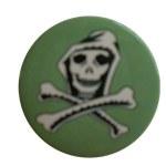 Badge skull green