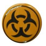 Badge black yellow tribal
