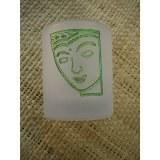 Photophore visage vert