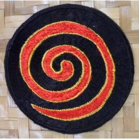 Patch spirale rouge