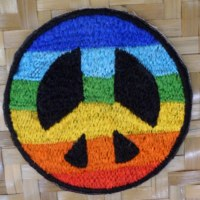 Patch rainbow peace and love