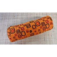 Trousse motifs 70's orange
