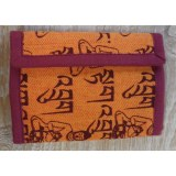 Portefeuille Bouddha orange