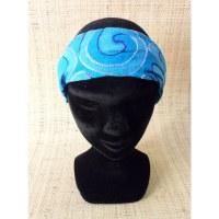 Bandeau cheveux bleu brodé