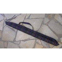 Housse didgeridoo rayée cassis