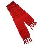 Echarpe laine rouge