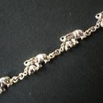 Bracelet famille éléphant en argent