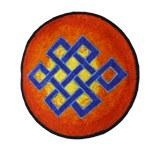 Ecusson noeud tibétain soleil