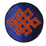 Ecusson noeud tibétain orange