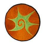 Ecusson tribal spirale orange