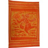 Tenture orange Hanuman