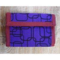 Portefeuille géo violet