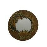 Miroir dragon doré