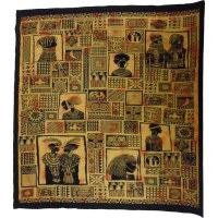 Maxi tenture patchwork africa orange