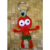 Porte clés Perlita perle verte et noire